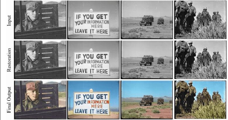 باز هم هوش مصنوعی و در دسترس قرار دادن راه های ساده و سریع برای افزایش کیفیت فیلم های قدیمی و رنگی کردن آنها