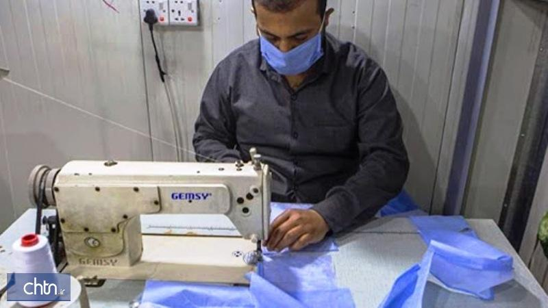 8 کارگروه صنایع دستی در کردستان ماسک و لباس پزشکی تولید کردند